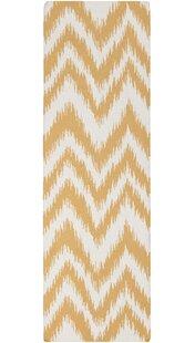 Great Price Marion Golden Raisin & Ivory Zig Zag Area Rug ByZipcode Design