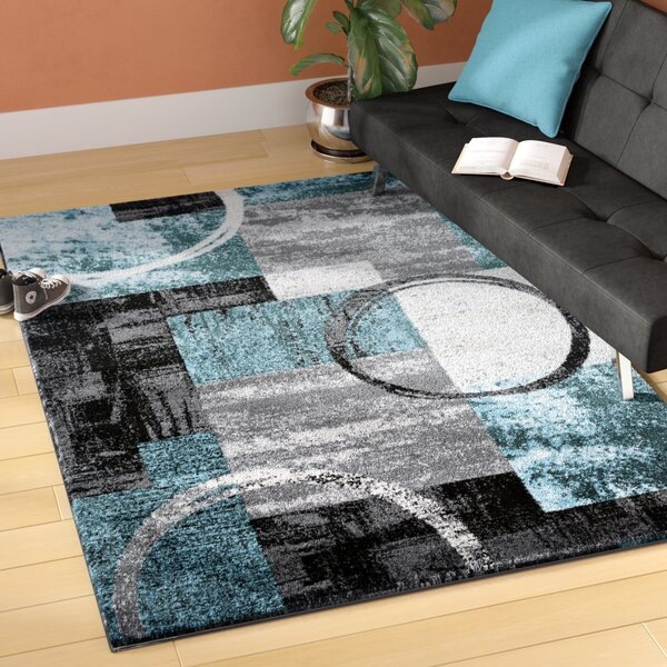 Sperling Circle Gray/Blue Area Rug by Trent Austin Design