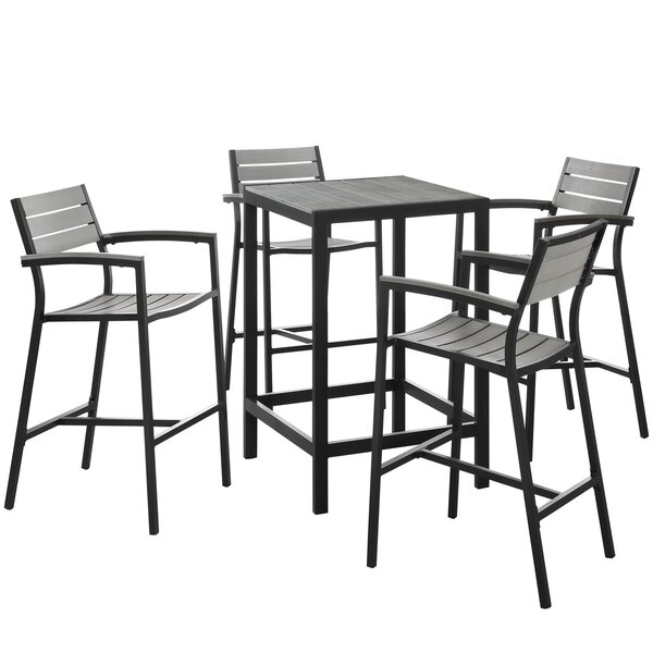 Windsor 5 Piece Bar Height Dining Set by Sol 72 Outdoor