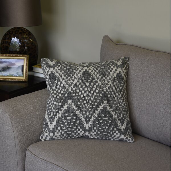 Mercer Chevron Cotton Throw Pillow by Union Rustic