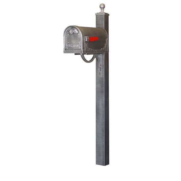 Floral Curbside Mailbox with Post Included by Special Lite Products
