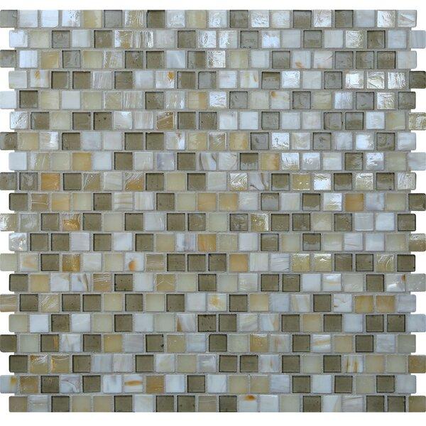 Opal 0.63 x 0.63 Glass Mosaic Tile in Casablanca by Kellani