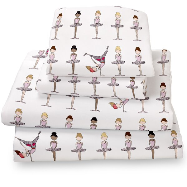 Ballerina / Brake Dancer Extra Deep Pocket Sheet Set by Where the Polka Dots Roam