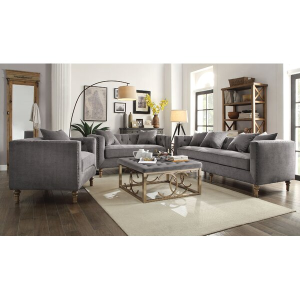 Aili 3 Piece Living Room Set by One Allium Way