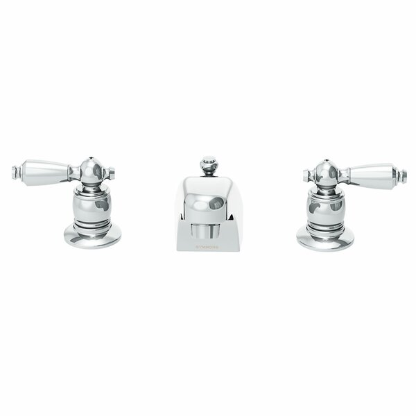 Symmetrix Widespread Lavatory Faucet with Drain & Lift Rod by Symmons