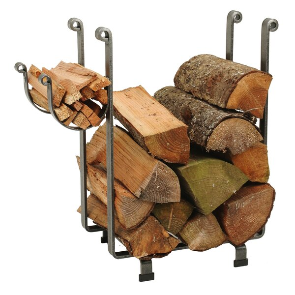 Handcrafted Indoor/Outdoor Rectangular Fireplace Log Rack by Enclume
