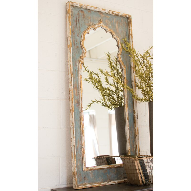 Bungalow Rose Olly Painted Wooden Full Length Mirror & Reviews | Wayfair