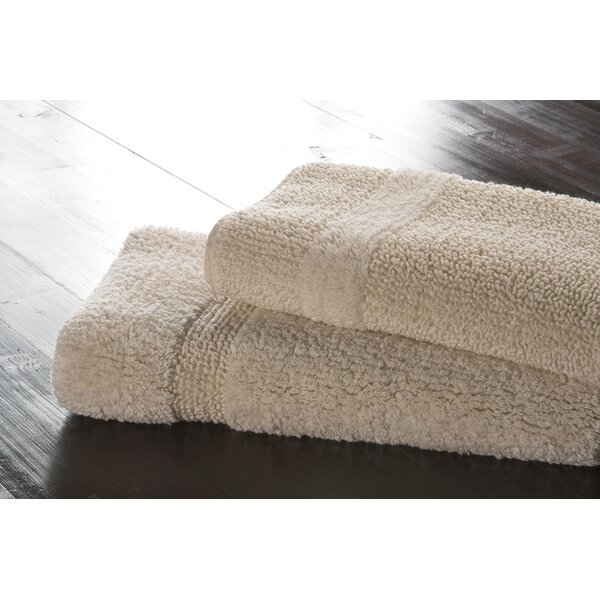 Hizer Classic Rectangle 100% Cotton Reversible Bath Rug