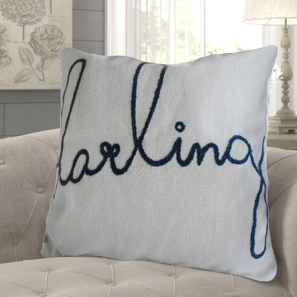 Barter Darling Embroidered Cotton Throw Pillow by Gracie Oaks