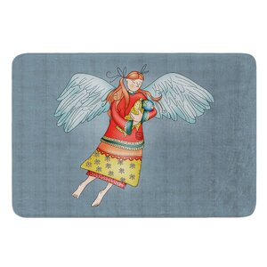 Guardian Angel by Carina Povarchik Bath Mat