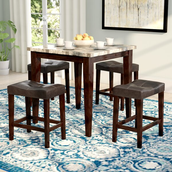Aldama 5 Piece Pub Table Set by Andover Mills