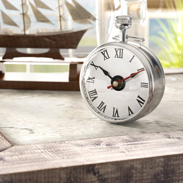 Globed Glass Tabletop Clock by Longshore Tides