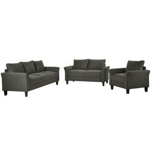 Polyester-Blend 3 Pieces Sofa Set,  Living Room Set by Red Barrel Studio®