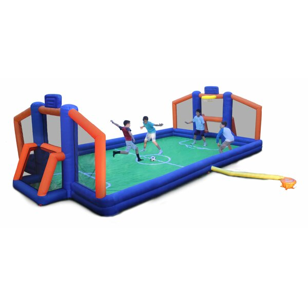 2 In 1 Ultimate Sports Arena Bounce House By Sportspower.