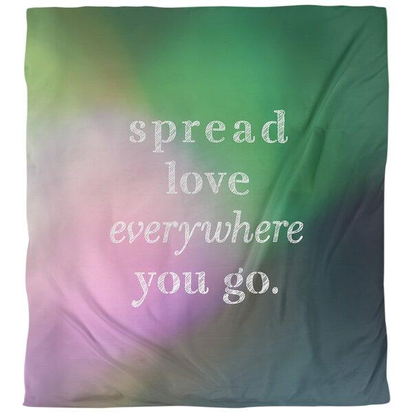 Spread Love Quote Single Duvet Cover