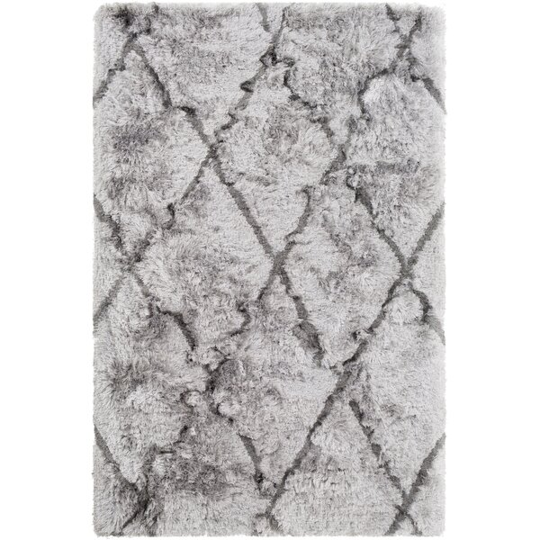 Cianciolo Trellis Hand-Tufted Gray/Charcoal Area Rug by Wrought Studio