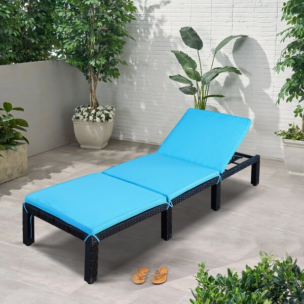 McCordsville Reclining Chaise Lounge with Cushion