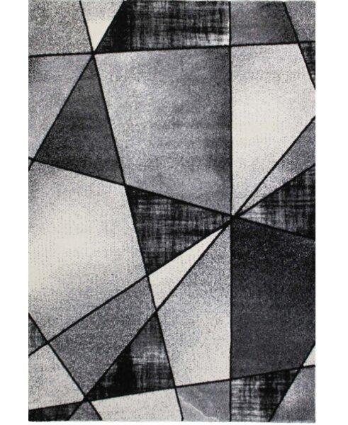 Crossen Abstract Gray Area Rug by Ebern Designs