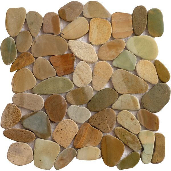 Bali Mix Random Sized Natural Stone Mosaic Tile in Brown/Tan by FuStone