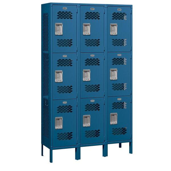 3 Tier 3 Wide School Locker by Salsbury Industries