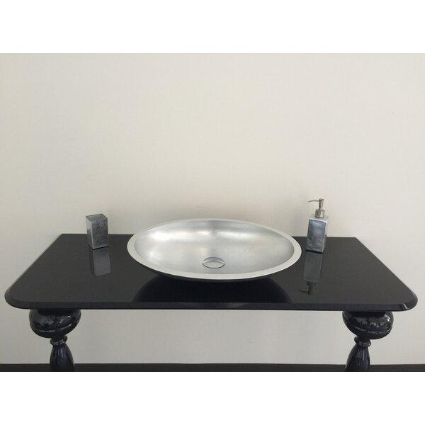 Vetro Freddo Oval Vessel Bathroom Sink by Maestro Bath