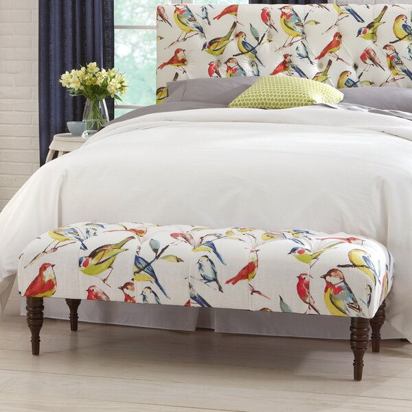 Selma Tufted Birdwatcher Bench by Darby Home Co Darby Home Co