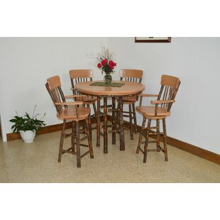 Hickory 5 Piece Solid Wood Dining Set ByA&L Furniture