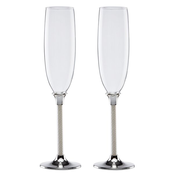 Jubilee Pearl Champagne Flute (Set of 2) by Lenox