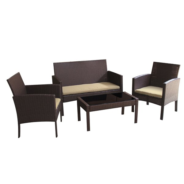 Sophia 4 Piece Sofa Set with Cushions by JJ Intern