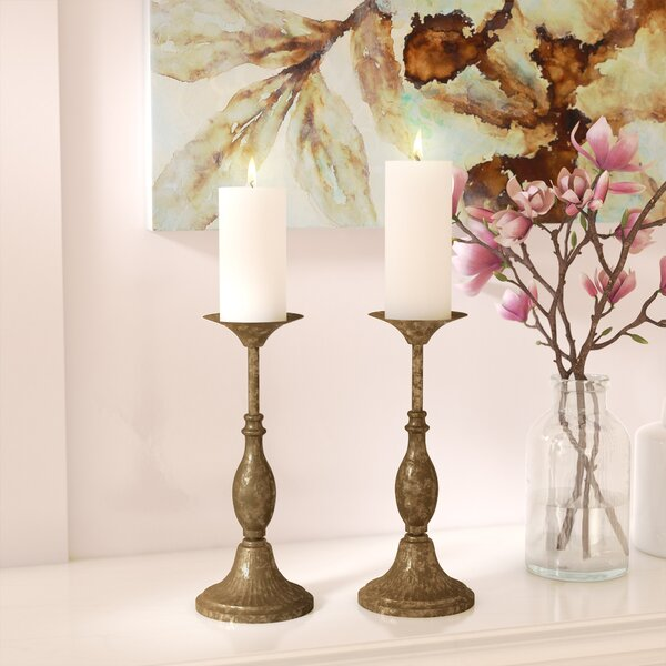 Pillar Metal Candlestick by Astoria Grand