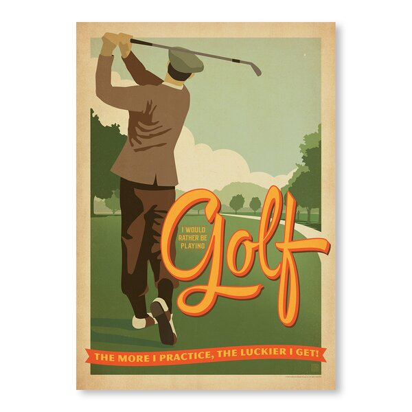 Practice Golf Vintage Advertisement by East Urban Home