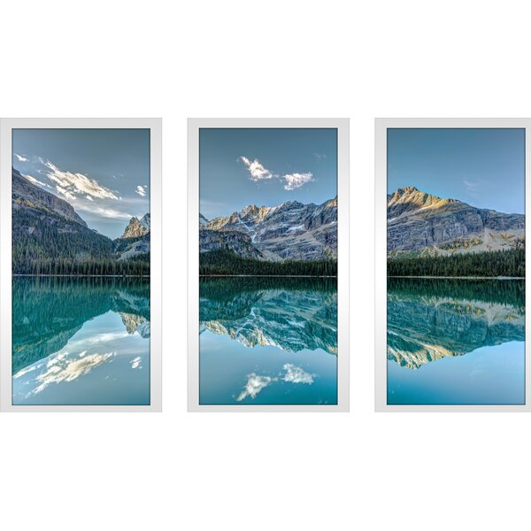 Banff in Alberta 3 Piece Framed Photographic Print Set by Picture Perfect International