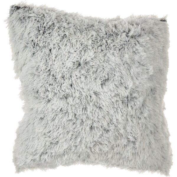 Branchville Solid Faux Fur Throw Pillow by Greyleigh
