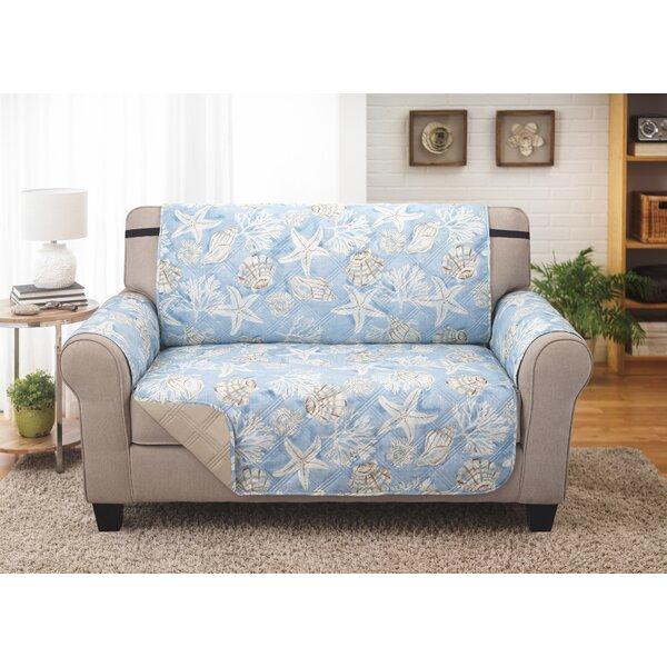 Box Cushion Loveseat Slipcover By Highland Dunes