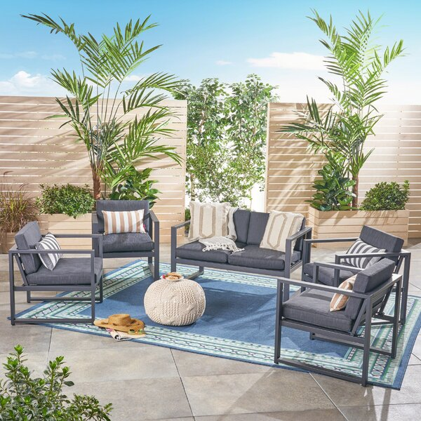 Maud Outdoor 6 Piece Sofa Seating Group with Cushions by Ivy Bronx