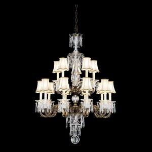 Renaissance 13-Light Shaded Tiered Chandelier By Schonbek