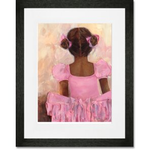 'Perfect Ballerina - African American' by Kristina Bass Bailey Framed Painting Print by Oopsy Daisy