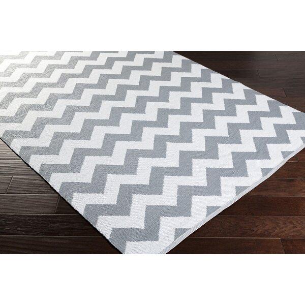 Lorene Hand-Woven Medium Gray/White Outdoor Area Rug by Zipcode Design