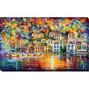 Dream Harbor by Leonid Afremov Painting Print on Wrapped Canvas by Picture Perfect International