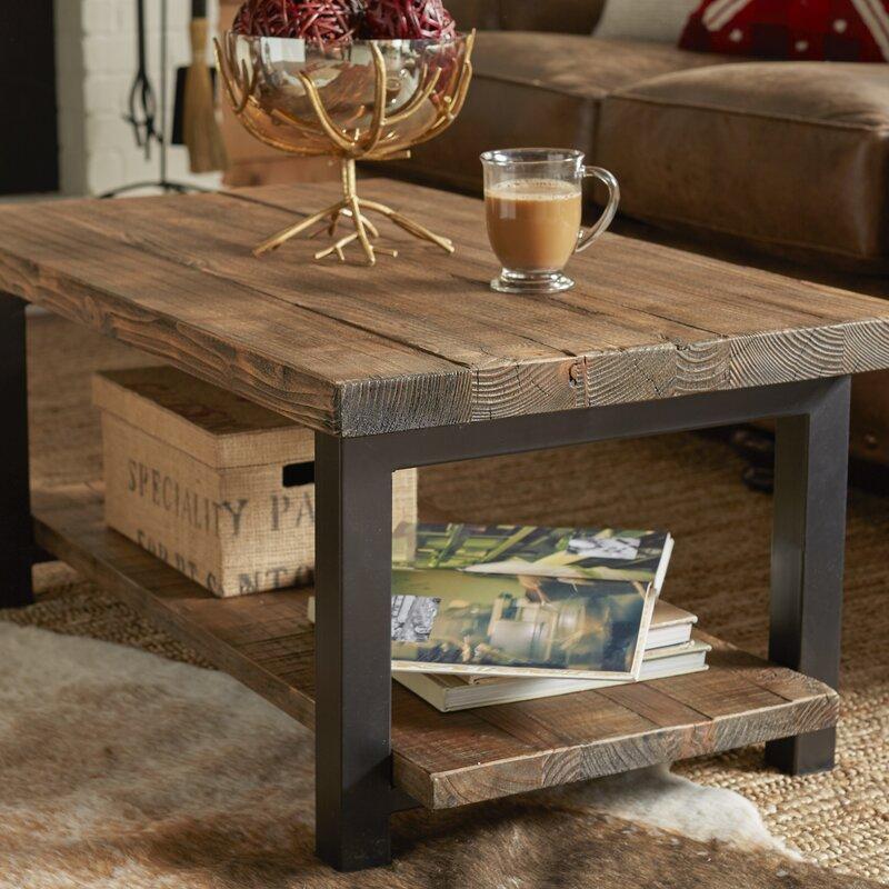 "somers 42"" wood/metal coffee table & reviews | joss & main"