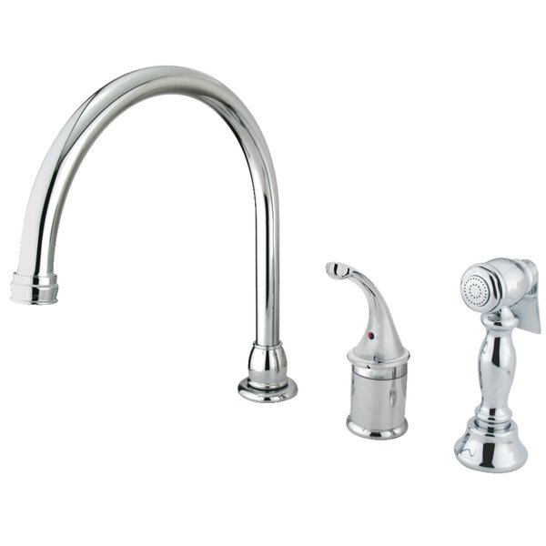 Georgian Widespread Single Handle Kitchen Faucet with Side Spray by Kingston Brass