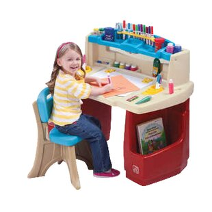 Deluxe Art Master Desk. by Step2  sc 1 st  Wayfair & Step2 Kids Table u0026 Chair Sets Youu0027ll Love