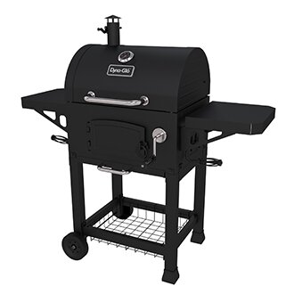 Charcoal Grill with Side Shelves by Dyna-Glo