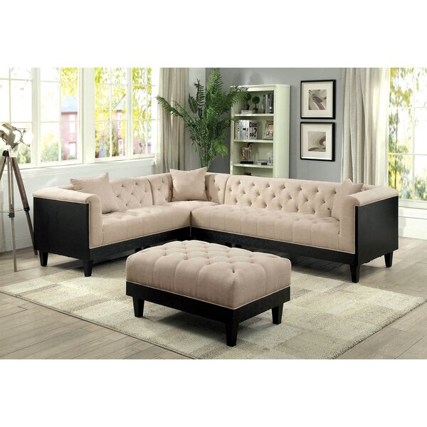 Molter Sectional with Ottoman by House of Hampton