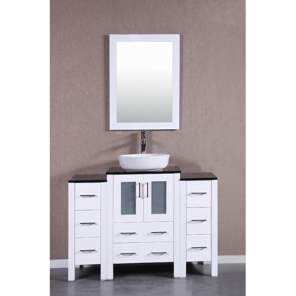 Bowie 48 Single Bathroom Vanity Set with Mirror by Bosconi
