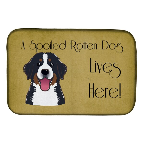 Bernese Mountain Dog Spoiled Dog Lives Here Dish Drying Mat by Caroline's Treasures