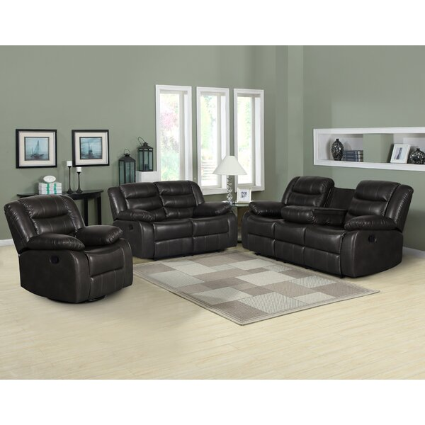 Trista Reclining 3 Piece Reclining Living Room Set by Red Barrel Studio