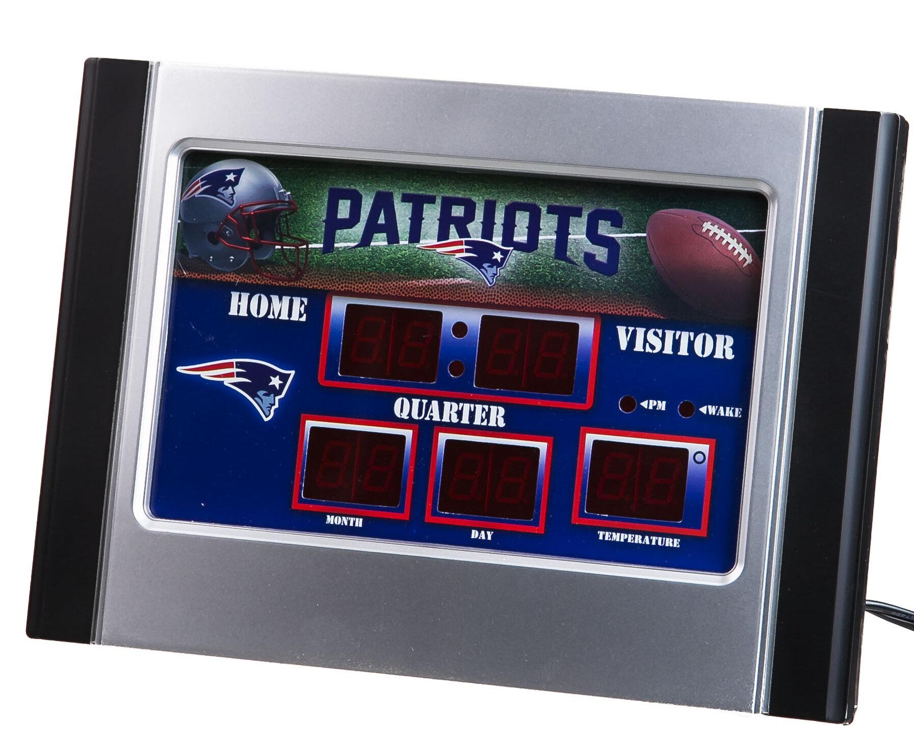Team Sports America NFL Bluetooth Scoreboard Wall Clock