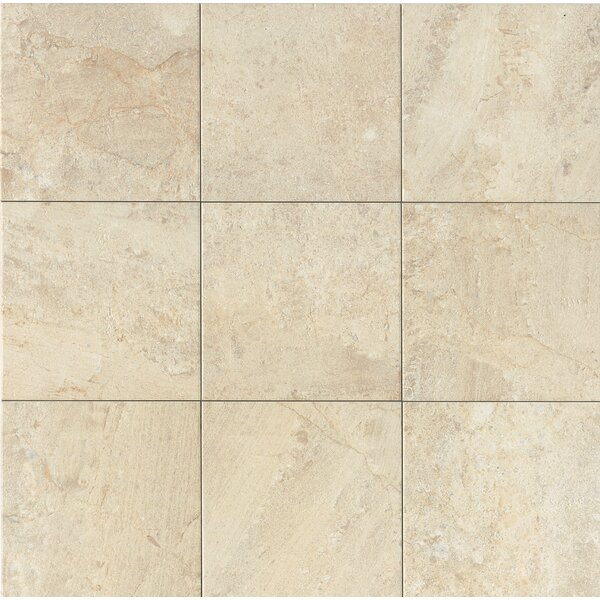 Classic Moderne 12 x 12 Porcelain Field Tile in Crème by Grayson Martin