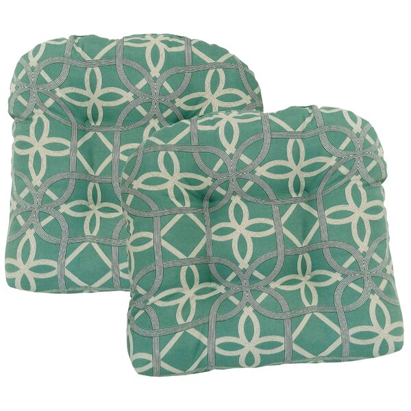 Marissa Tufted Indoor/Outdoor Dining Chair Cushion (Set of 2) by Andover Mills